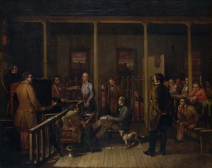 William J. Brickey, Missouri Courtroom, 1852.